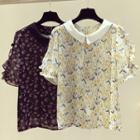 Floral Ruffled  Shirt