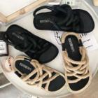 Linen Cross Sandals