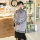 Lace Hem Pullover Dress