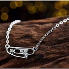 Sterling Silver Clip Necklace