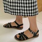 Ankle-strap Cowhide Sandals