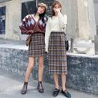Plaid Mini / Midi Skirt