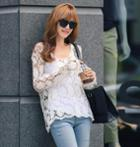 Long-sleeve Crochet Top