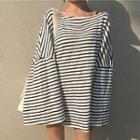 Striped Long-sleeve Loose Fit T-shirt