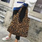 Animal Print Shopper Bag Leopard - One Size