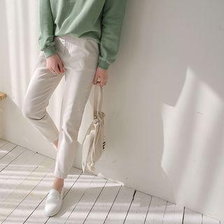 Button-detail Baggy Pants