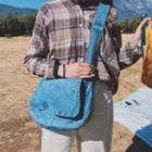 Denim Flap Messenger Bag