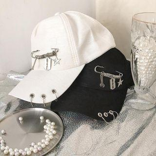 Pinned Ring Accent Baseball Cap