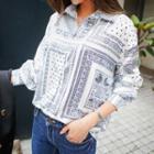 Scarf-pattern Shirt
