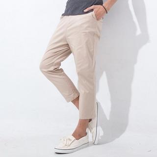 Flap-pocket Cropped Pants
