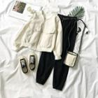 Corduroy Zip Jacket / Harem Pants With Belt
