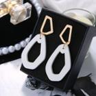Irregular Wooden Hoop Earring