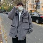Hooded Fleece Zip Coat
