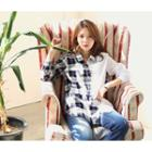 Asymmetric Plaid Cotton Shirt