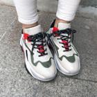 Color-block Mesh Running Sneakers