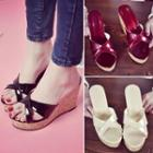 Crossover Wedge Platform Sandals