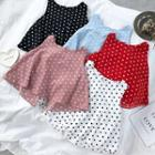 Dotted Sleeveless Top