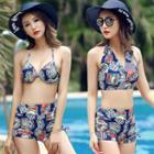 Set: Printed Bikini + Swim Top