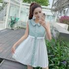Sleeveless Mini Pleated Dress