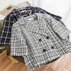 Plaid Cropped Blazer Jacket