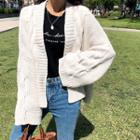 Open-front Oversized Cable-knit Cardigan