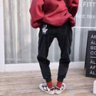 Dog Embroidered Jogger Pants