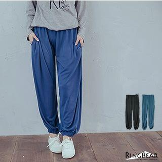 Loose Fit Cuff Gather Pants