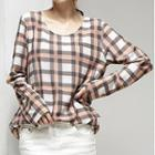 Plaid Long-sleeve T-shirt
