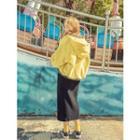 Elasticized-waist Napped H-line Skirt