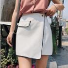 Contrast-trim A-line Mini Skirt