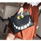 Smiley Faux Leather Clutch