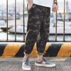 Distressed Camouflage Harem Pants