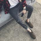 Lettering Harem Jeans