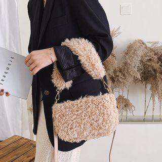 Furry Top Handle Crossbody Bag