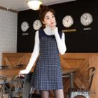 Check-panel Sleeveless Dress