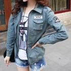 Stand-collar Denim Jacket
