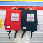 Canvas Applique Flap Backpack