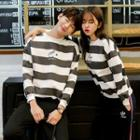 Couple Matching Striped Sweatshirt