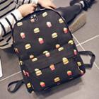 Burger Print Lightweight Backpack