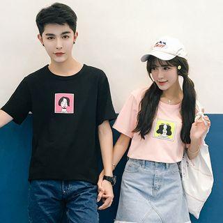 Couple Matching Printed T-shirt