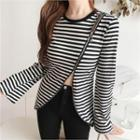 Zip-trim Stripe Top