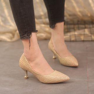 Imitate Snake Grain High-heel