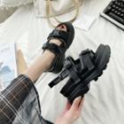 Buckle Detail Ankle Strap Platform Sandals