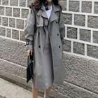 Long Double-breasted Trench Coat