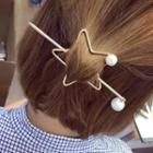 Faux-pearl Star Hair Stick