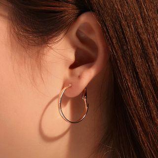 Set Of 9 Pairs : Hoop Earring