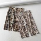 Leopard-print Sport Shorts