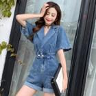 Denim Wide-leg Playsuit