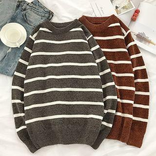 Couple Matching Striped Knit Top