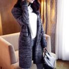 Melange Knit Long Cardigan